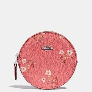 💐Round Coin Case With Floral Bow Print💐